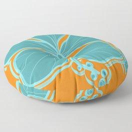Kailua Hibiscus Hawaiian Engineered Floral Floor Pillow