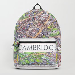 CAMBRIDGE University map ENGLAND Backpack