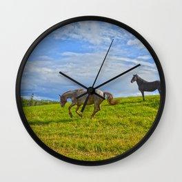 A Fine Case of the Happies Wall Clock