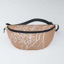 Hand Holding and Growing Wildflowers Design Fanny Pack