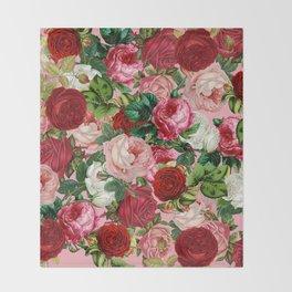 rose bushes Throw Blanket