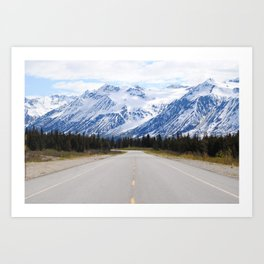 Back down the Road Art Print