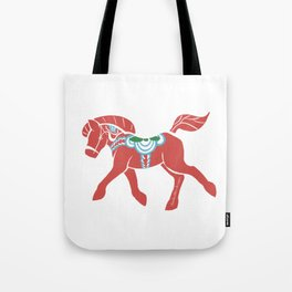 Real Dala Horse #2 Tote Bag
