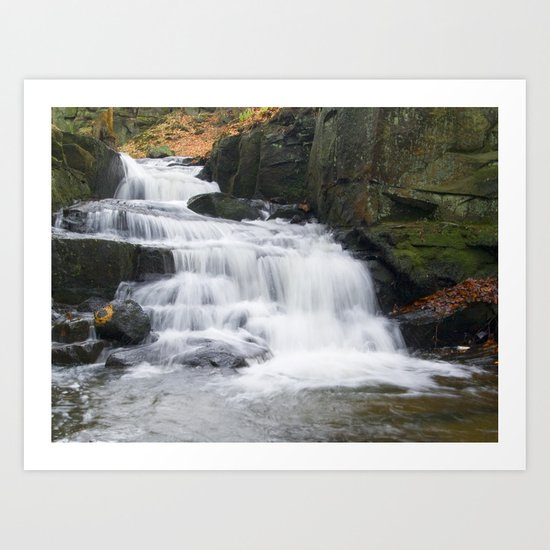 Lumsdale waterall Art Print