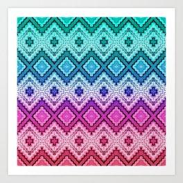 Woven Pastels Art Print