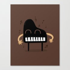 Smile with a nice sound Canvas Print