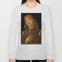 "Sandro Botticelli ""Portrait of a Young Man"" (I) Long Sleeve T-shirt"