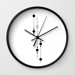 Planets Descending Wall Clock