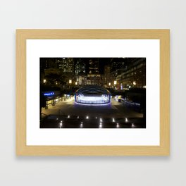 Skating rink Vancouver Framed Art Print