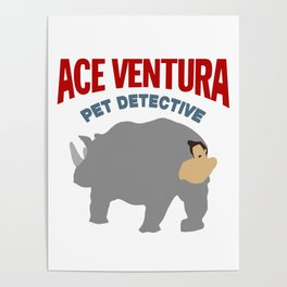 ACE VENTURA RHINO DISGUISE Poster