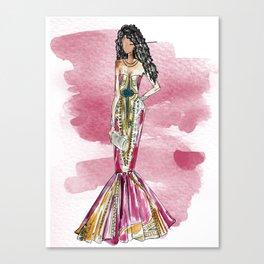 Date Night (pink version splash) Canvas Print