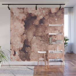 Rose Colored Geode Wall Mural