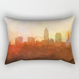 Cleveland, Ohio Skyline - In the Clouds Rectangular Pillow