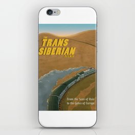 The Transsiberian Railway Travel Poster iPhone Skin