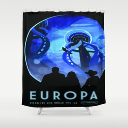 Vintage poster - Europa Shower Curtain