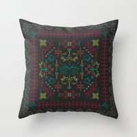 portugal Throw Pillows featuring Portugal by Ana Types Type