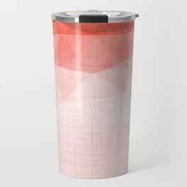Ocean Night - Abstract Metallic Geometry Coral Travel Mug