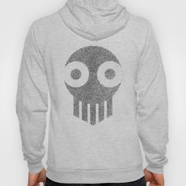 Ghost Skull Black Hoody