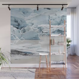 Icelandic lagoon in pastel blue Wall Mural