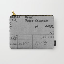 Library Card 797 Gray Carry-All Pouch