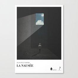 La Nausée - literary art series Canvas Print