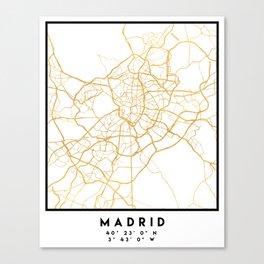 MADRID SPAIN CITY STREET MAP ART Canvas Print