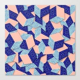 Colorful Aqua Geometric Pattern Canvas Print