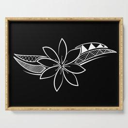 Brave Flower - Black Background Serving Tray