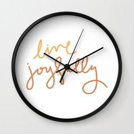Live Joyfully Wall Clock