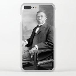 Booker T Washington Clear iPhone Case