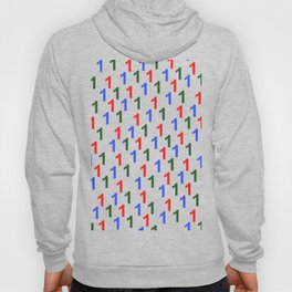colorful number pattern 1, 1 year anniversary, 1st birthday Hoody