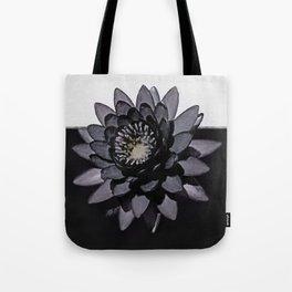 Black Lotus Watercolor Digital Art 3 Tote Bag