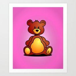 Cuddly Teddy Bear Art Print