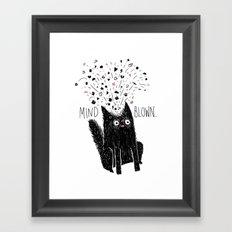 MIND BLOWN. Framed Art Print