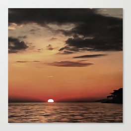 Autumn Evening Sundowner Canvas Print