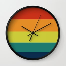 Vintage Bicycle Colorful Geometric Pattern Wall Clock