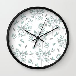 Olive - white edition Wall Clock