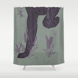 Floral Paws Shower Curtain