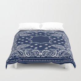 Bandana - Navy Blue - Boho Duvet Cover
