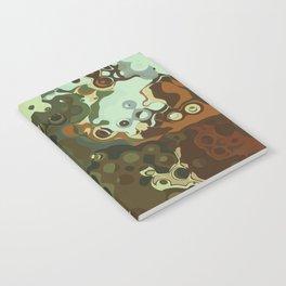 RETRO Mid Century Modern Abstract Pattern Geometric Art by Michel Keck Notebook