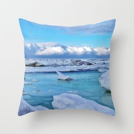 Frozen, and clouds on the Horizon Throw Pillow