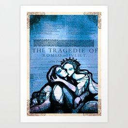 Romeo & Juliet in the tomb - Shakespeare Folio Illustration Art Print