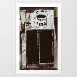 Café Fino Art Print
