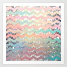 New World Chevron Pastel Art Print