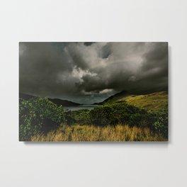 Galway Ireland Green Mountain Lake Metal Print