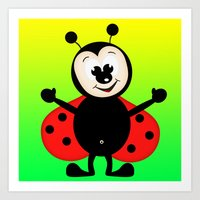 ladybug Art Prints featuring Ladybug by Digital-Art