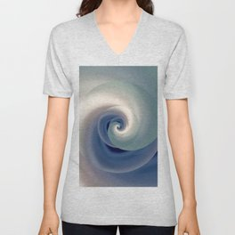 whirlwind abstract 3D digital art Unisex V-Neck