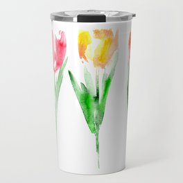 Tulips from the garden || watercolor Travel Mug