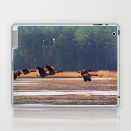 Flying Canadian Geese Laptop & iPad Skin