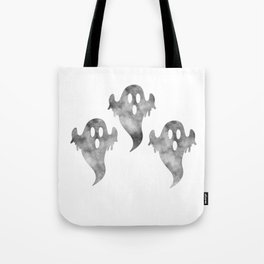 Halloween Triple Scary Ghost Tote Bag